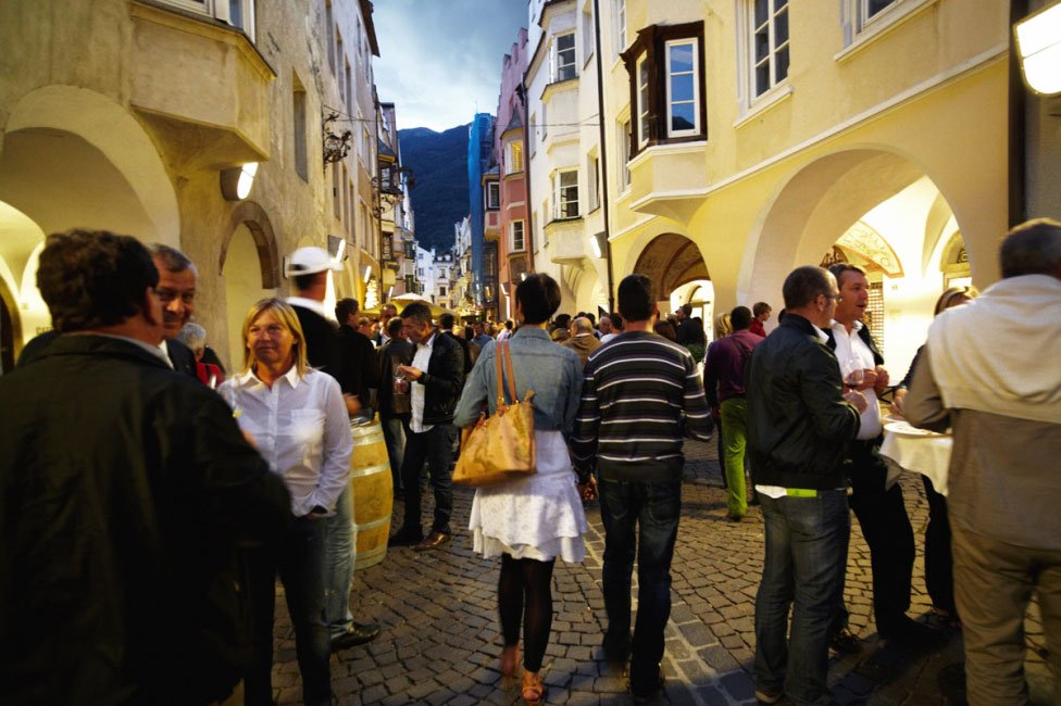 Cultural experience trip during an autumn holiday in South Tyrol
